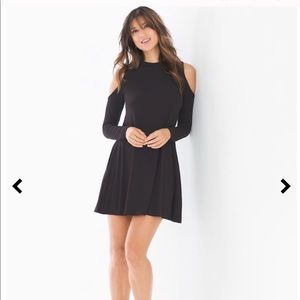 ◼️Elan ◼️ Black Cold Shoulder Dress with pockets